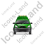 Roadside Assistance Car Front Green Icon