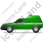Roadside Assistance Car Left Green Icon