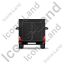 Service Van Back Black Icon