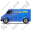Service Van Left Blue Icon