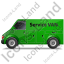 Service Van Left Green Icon, PNG/ICO, 64x64