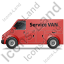 Service Van Left Red Icon, PNG/ICO, 64x64