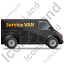 Service Van Right Black Icon, PNG/ICO, 64x64