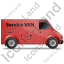Service Van Right Red Icon, PNG/ICO, 64x64