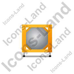 Swap Tank Container Front Yellow Icon, PNG/ICO, 256x256