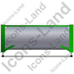 Swap Tank Container Left Green Icon, PNG/ICO, 256x256