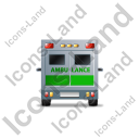 Ambulance Back Green Icon