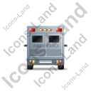 Ambulance Back Grey Icon, PNG/ICO, 128x128