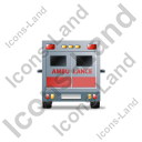 Ambulance Back Red Icon
