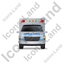 Ambulance Front Blue Icon