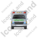 Ambulance Front Green Icon