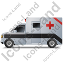 Ambulance Left Black Icon