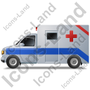 Ambulance Left Blue Icon