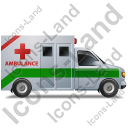Ambulance Right Green Icon