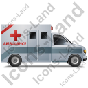 Ambulance Right Grey Icon, PNG/ICO, 128x128