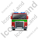 Fire Truck Front Green Icon, PNG/ICO, 128x128