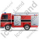 Fire Truck Left Black Icon, PNG/ICO, 128x128