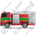 Fire Truck Left Green Icon