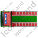 Fire Truck Top Green Icon, PNG/ICO, 128x128