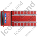 Fire Truck Top Red Icon, PNG/ICO, 128x128