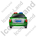 Police Back Green Icon, PNG/ICO, 128x128