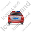 Police Back Red Icon, PNG/ICO, 128x128