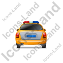Police Back Yellow Icon, PNG/ICO, 128x128