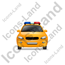 Police Front Yellow Icon, PNG/ICO, 128x128