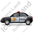 Police Left Black Icon, PNG/ICO, 128x128