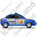 Police Right Blue Icon, PNG/ICO, 128x128