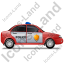 Police Right Red Icon, PNG/ICO, 128x128