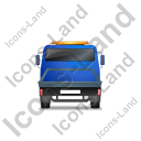 Recovery Truck Back Blue Icon, PNG/ICO, 128x128