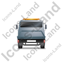 Recovery Truck Back Grey Icon, PNG/ICO, 128x128