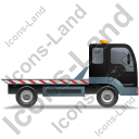 Recovery Truck Right Black Icon, PNG/ICO, 128x128