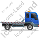 Recovery Truck Right Blue Icon, PNG/ICO, 128x128