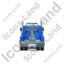 Tow Rig Back Blue Icon, PNG/ICO, 128x128