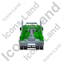 Tow Rig Back Green Icon, PNG/ICO, 128x128