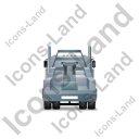 Tow Rig Back Grey Icon, PNG/ICO, 128x128