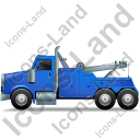 Tow Rig Left Blue Icon