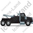 Tow Rig Right Black Icon, PNG/ICO, 128x128