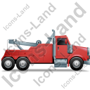 Tow Rig Right Red Icon, PNG/ICO, 128x128