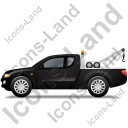 Tow Truck Left Black Icon, PNG/ICO, 128x128