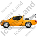Tow Truck Left Yellow Icon, PNG/ICO, 128x128