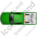 Tow Truck Top Green Icon, PNG/ICO, 128x128