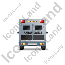 Ambulance Back Black Icon