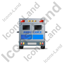 Ambulance Back Blue Icon