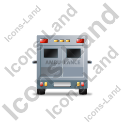 Ambulance Back Grey Icon, PNG/ICO, 256x256