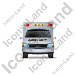 Ambulance Front Black Icon