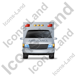 Ambulance Front Grey Icon