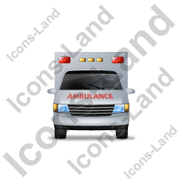 Ambulance Front Red Icon